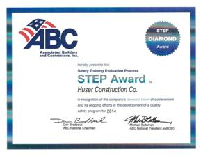 National Associated Builders and Contractors, Inc. STEP (Safety Training and Evaluation Process) Award - Diamond Level (2014)